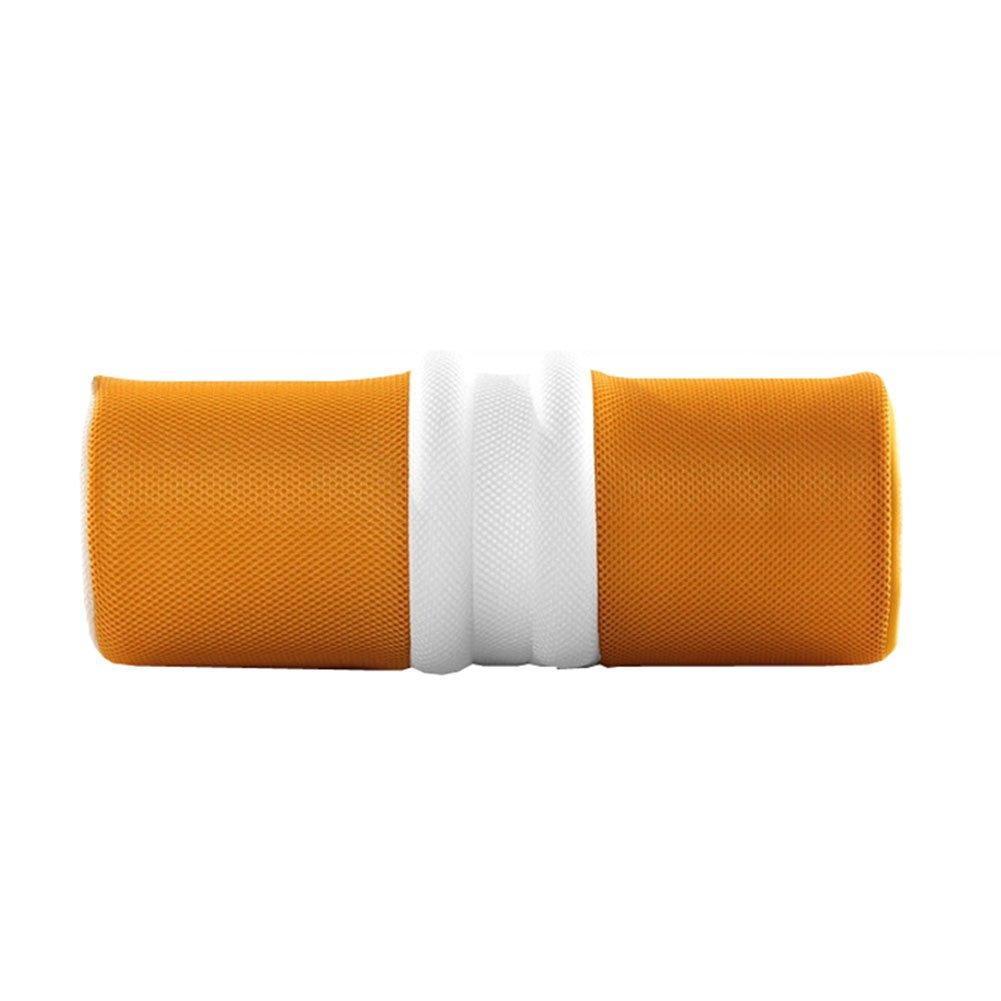 NACHEN Yoga Lumbar Cushion Pillow Waist Pelvic Bone Body Slimming Corrective Care Pillow,Yellow,40X14x14cm