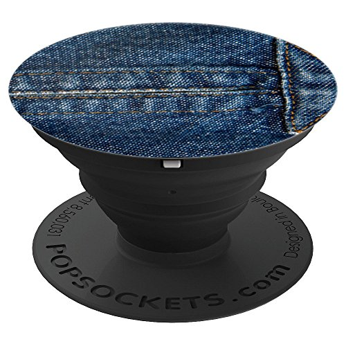 Selvedge Blue Denim Shorts Seems Jacket / Dress / Skirt - PopSockets Grip and Stand for Phones and Tablets ()