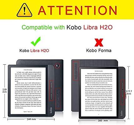Xuanbeier Funda Carcasa TPU para Kobo Libra H2O con Función de ...
