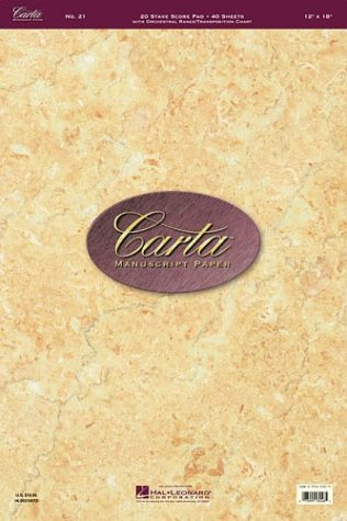 Carta Manuscript Paper No. 21 - Professional