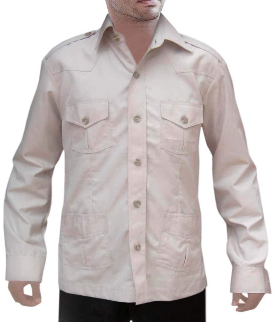 INMONARCH Mens Hunting Shirts Safari Gainsboro Boy ScoutUniform 4 Pocket Bush Shirts HS108XX-LARGE XX-Large LightGray by INMONARCH