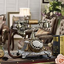 Complex classical rotary dial telephone antique telephone Office in the home living room decoration of antique European telephone