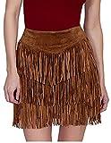 Scully Women's Zeena Fun Fringe Skirt Cinnamin Skirt XS
