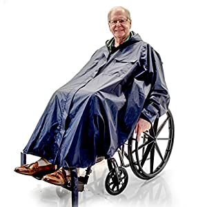Warm Winter Rain Poncho for Wheelchair, Electric Powerchair, Mobility Scooter Riders, Quality lining from Challenger Mobility