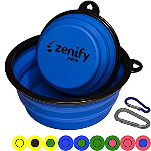 Zenify Dog Bowl Food & Water Feeder 2 Pack – Extra Large 1000ml 17.8cm & Small 400ml 12.7cm Collapsible Portable… Click on image for further info.