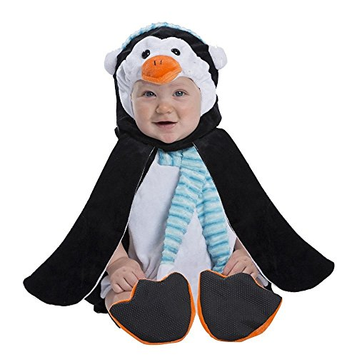 [Boo Babies Halloween Costume Penguin Sz 0-9 Months 3 Pieces Flippers] (Boo Baby Costume)