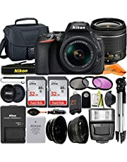 $754 » Nikon D5600 DSLR Camera 24.2MP with NIKKOR 18-55mm f/3.5-5.6G VR Lens, 2 Pack SanDisk 32GB Memory Card, Case, Tripod, Filter Kit and ZeeTech Accessory Bundle (Black)