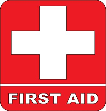 amazon com first aid kit emergency symbol logo sticker picture art rh amazon com first aid logo images first aid logo png
