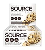 SOURCE BAR Choc Chip Cookie Dough - Made with: Grass Fed Whey Protein Concentrate, Whey Protein Isolate, and Milk Protein Isolate.