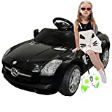 Black Mercedes Benz Sls R/c Mp3 Kids Ride on Car Electric Battery Toy by Giantex