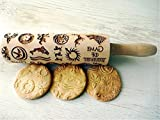 GAME of THRONES Embossing Rolling Pin. Laser engraved rolling pin. Game Of Thrones pattern rolling pin. Stark