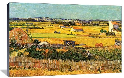 Harvest Van Gogh Vincent (Harvest at La Crau with Montmajour in the Background 20