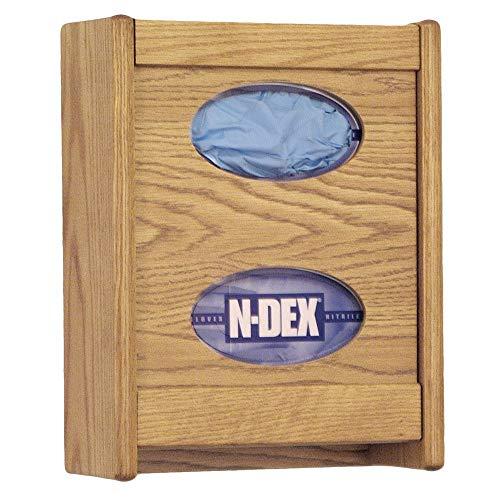 Wooden Mallet 2-Pocket Glove/Tissue Box Holder, - Wall Pocket Mahogany