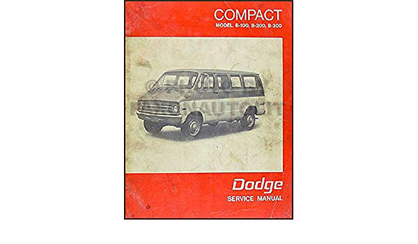 Motors Vehicle Parts & Accessories 1971-1972 Dodge Van Repair Shop ...