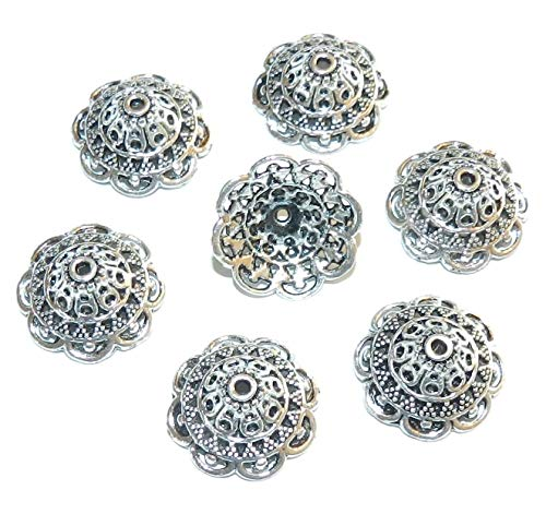 y Open Round Scalloped 18mm Bead Cap 12pc ()