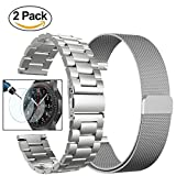 (US) Gear S3 Frontier / Classic Watch Bands, Valkit 22mm Stainless Steel Band + Milanese Loop Mesh Replacement Bracelet Metal Strap for Samsung Gear S3 Frontier / S3 Classic Smart Watch