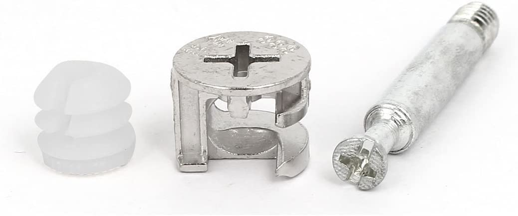 Flyshop 10 Sets Furniture Cabinet Locking Connecting #1518 Cam Fitting Self-tapping Thread 45mm Length Dowel