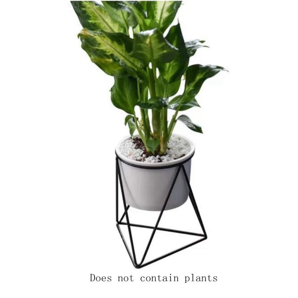 Blumentopf Keramik klein Eisen Blumenständer Wohnzimmer Dekoration Kleine Topfpflanze Schwarz