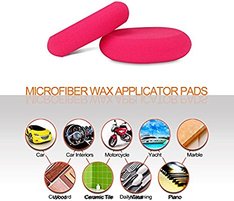 UFO-Shape Red Applicator Wax and Dressing Pads Buffing Pads for Car Polishing /& Cleaning SPTA 4 Inch Ultra Soft Foam Applicator Pads Pack of 10pcs