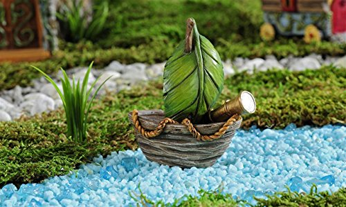 Gift Craft 706467 Mini Enchanted Forest Sail Boat Outdoor...