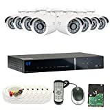 GW Security 8 Channel HD 1600TVL Outdoor / Indoor 1.3MP 960P Video Security Camera System with Pre-Installed 2TB HD, Quick QR Code Smartphone Access (White)