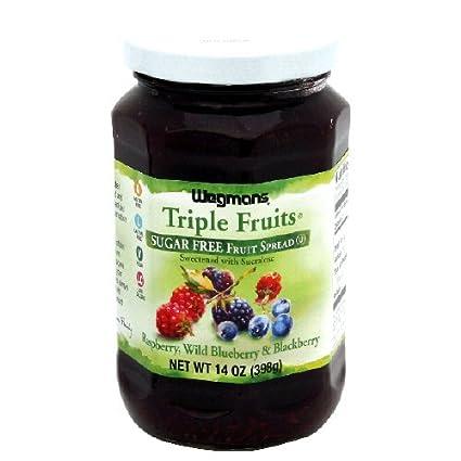 wgmns Triple Frutas Frutas Spread, Sugar Free, frambuesa ...