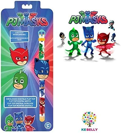 Reloj digital de pulsera Bimbo Watch Super pigiamini PJ MASKS gattoboy gato Boy Azul Blue