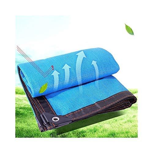 SHIJINHAO Sun Network Shading Net Sunscreen Outdoor Shadow Cover Knitting Encryption Metal Buttonhole Polyester, 23 Sizes (Color : Blue, Size : 5x8m)