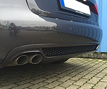 A4 B8 8K Rear Diffuser S-Line Look (doppelendrohr-links): Amazon co