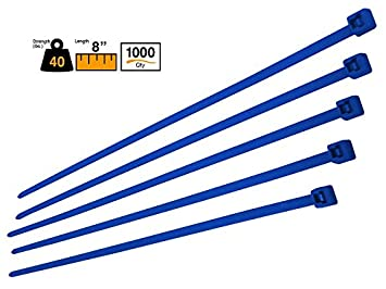 """b515957fd1a6 Image Unavailable. Image not available for. Color: BuyCableTies 8"""" Intermediate  Duty Indoor Cable ..."""