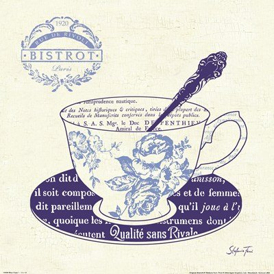 Blue Cups I by Stefania Ferri - 12x12 Inches - Art Print Poster