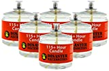 115 Hour Plus Emergency Candles (Set of 6) | Long-Burning Clear Mist - Smoke & Odor Free | Indoor & Outdoor use