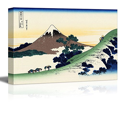 wall26 -Thirty-six Views of Mount Fuji Inume Pass, Koshu by Katsushika Hokusai - Canvas Print Wall Art Famous Painting Reproduction - 24