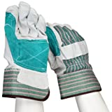 West Chester 500DP Rubberized Safety Cuff Leather Glove, 10.5