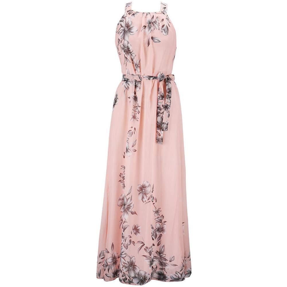 Boho De Las Mujeres De La Impresión Floral del Vestido Maxi ...