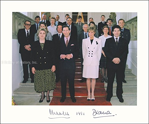Princess Diana Of Wales (Great Britain) - Photograph Mount Signed 1991 with co-signers