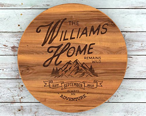 Lazy Susan Turntable, Mountains, Mountain Decor, Rustic Home Decor, Hunting Gifts, Rustic Decor, Custom Lazy Susan, Hiking Gifts, Best Christmas Gifts 2018 - Best Hunting Round