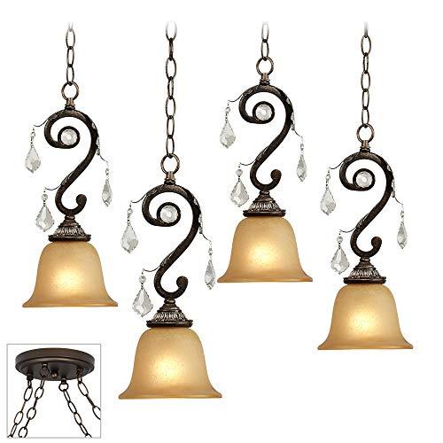 Kathy Ireland Rama de Luces Bronze 4-Light Multi Pendant - Kathy Ireland 4 Light
