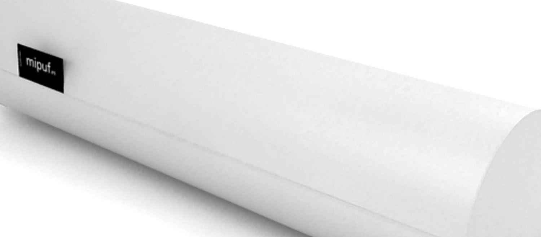 MiPuf - Respaldo Cojín Rulo (1 uds)- Tamaño 60x20 - Tejido Polipiel Alta Resistencia (Blanco)