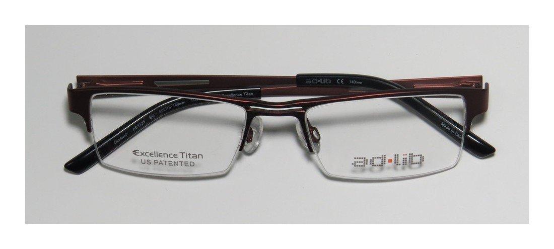 Ad.lib 3135 Mens/Womens Cat Eye Half-rim Titanium Eyeglasses/Glasses (50-18-140, Burgundy)