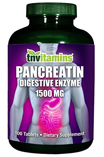 TNVitamins Pancreatin Multi Enzymes 1500 Mg - 100 Tablets