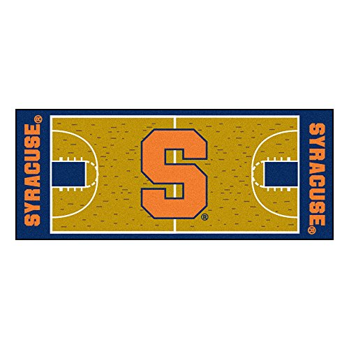 FANMATS NCAA Syracuse University Orange Nylon Face Basketball Court Runner by Fanmats