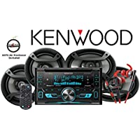 Kenwood DPX592BT CD Receiver with Red 800 Series Kenwood Headphones KH-SR800R and One Pair of TS-165P 6.5 & One Pair of TS-695P 6x9 Pioneer Speakers with a FREE SOTS Air Freshener