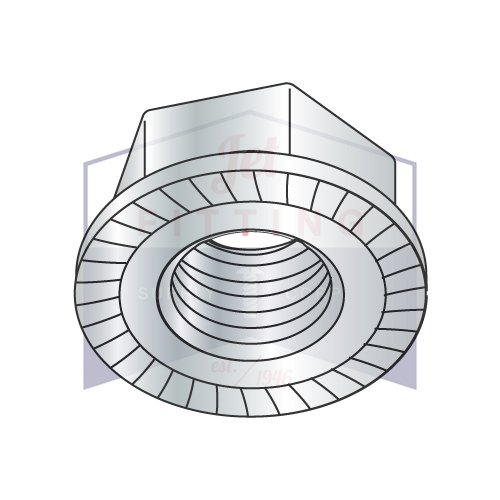 4-40 Serrated Hex Flange Locknuts | Case Hardened Steel | Zinc and Bake (QUANTITY: 10000) by Jet Fitting & Supply Corp