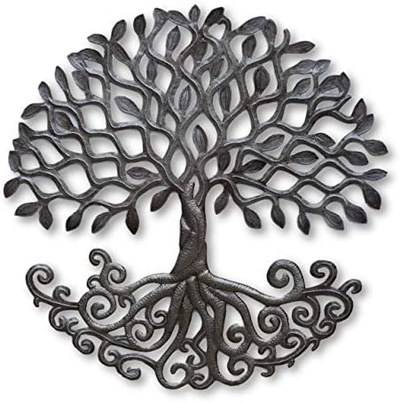 Haitian Metal Tree of Life Wall Plaque