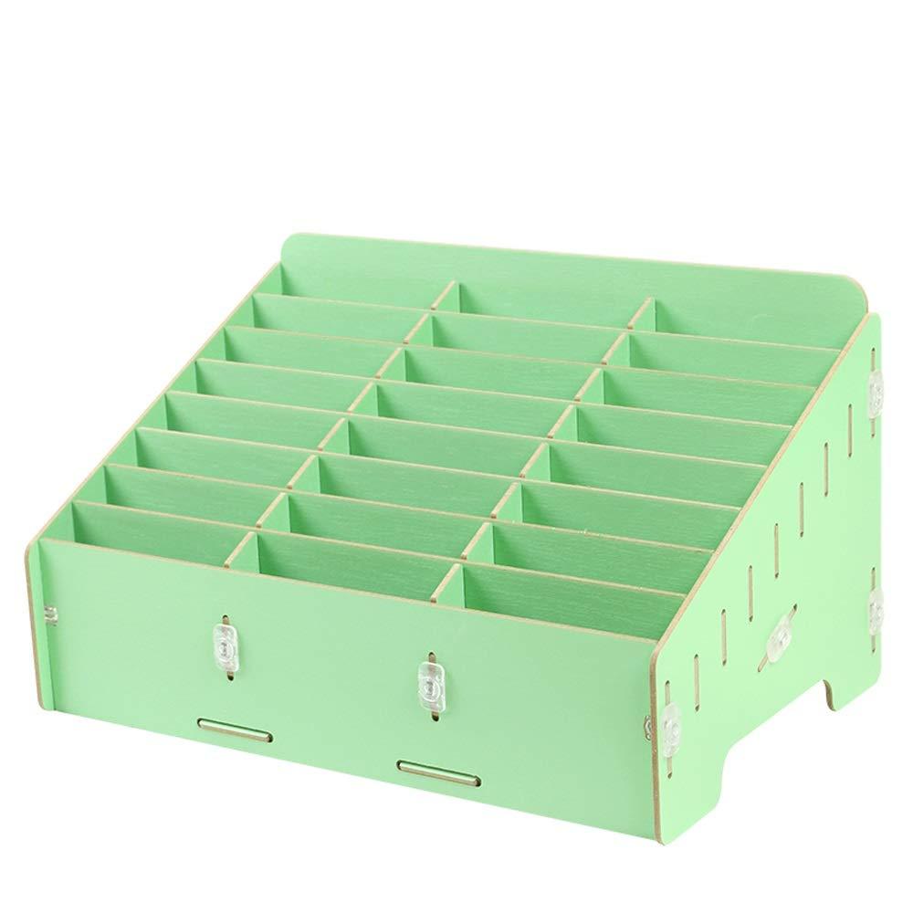 GaoJinZhuan móviles Administración de teléfonos móviles GaoJinZhuan Caja de Almacenamiento Escritorio Película templada Conferencia en la Oficina Aula Escuela de múltiples Funciones Teléfono móvil Shell (Color : Verde) d6c800