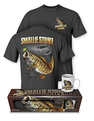 Follow the Action Smallmouth Bass Smallie Strike T-Shirt & Mug Premium Gift Set - Action Angler