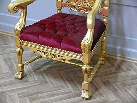 LouisXV Sillón Barroco fauteuille Silla Trono pompa sillón ...