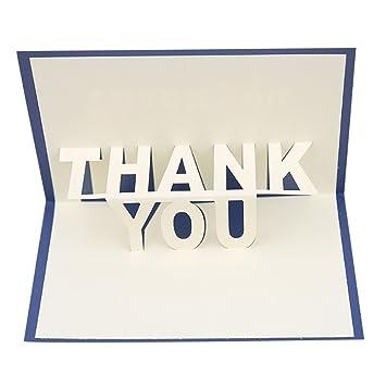 Amazon Com Hardli 3d Pop Up Thank You Greeting Cards