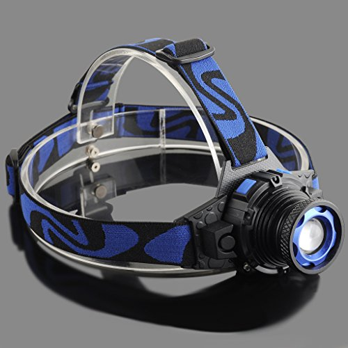 LIYUDL Brightest Zoomable Headlamp,XM-L Q5 5500 Lumen flashlight - 3 Modes Rechargeable Headlight Flashlights,Hard Hat Light, Bright Head Lights, Running or Camping headlamp by LIYUDL (Image #3)